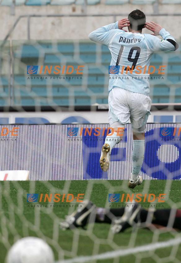 Goran Pandev (Lazio)<br /> Italian &quot;Serie A&quot; 2006-07<br /> 18 Feb 2007 (Match Day 24)<br /> Lazio-Torino (2-0)<br /> &quot;Olimpico&quot;-Stadium-Roma-Italy<br /> Goran Pandev celebrates after scoring first goal for Lazio<br /> Esultanza di Goran Pandev dopo il primo gol<br /> Photographer: Andrea Staccioli INSIDE