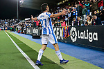 CD Leganes's Oscar Rodriguez celebrates goal during La Liga match between CD Leganes and Levante UD at Butarque Stadium in Leganes, Spain. March 04, 2019. (ALTERPHOTOS/A. Perez Meca)