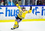 Huddinge 2015-09-20 Ishockey Division 1 Huddinge Hockey - S&ouml;dert&auml;lje SK :  <br /> S&ouml;dert&auml;ljes Christofer Blid jublar vid S&ouml;dert&auml;ljes 1-3 m&aring;l under matchen mellan Huddinge Hockey och S&ouml;dert&auml;lje SK <br /> (Foto: Kenta J&ouml;nsson) Nyckelord:  Ishockey Hockey Division 1 Hockeyettan Bj&ouml;rk&auml;ngshallen Huddinge S&ouml;dert&auml;lje SK SSK jubel gl&auml;dje lycka glad happy