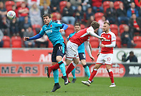 Bobby Grant of Fleetwood Town during the Sky Bet League 1 match between Rotherham United and Fleetwood Town at the New York Stadium, Rotherham, England on 7 April 2018. Photo by Leila Coker.