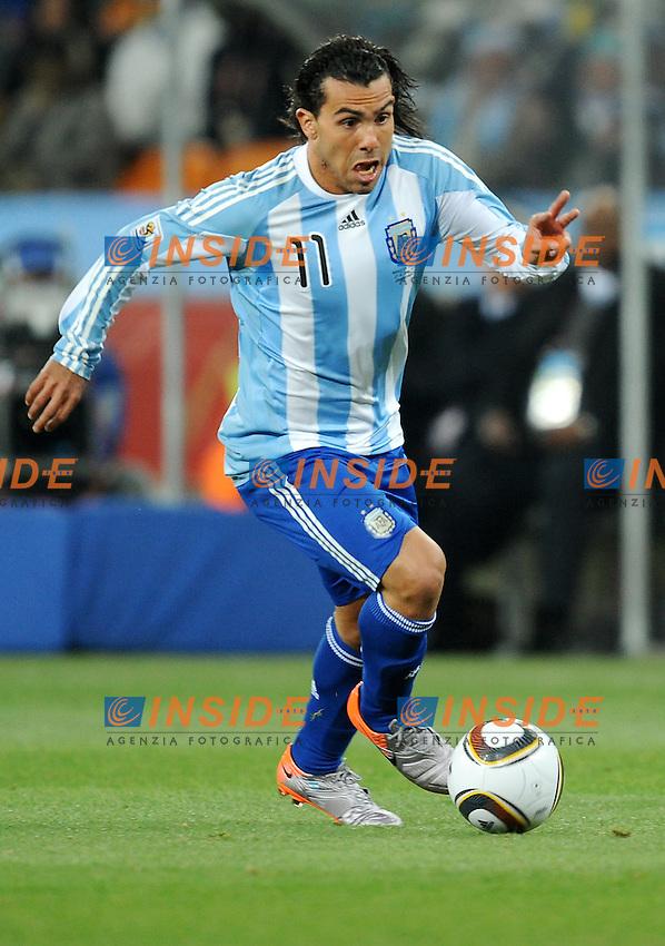 Carlos Tevez (Argentina)<br /> Argentina Messico 3-1 - Argentina vs Mexico 3-1<br /> Campionati del Mondo di Calcio Sudafrica 2010 - World Cup South Africa 2010<br /> Soccer City Stadium, Johannesburg, 27 / 06 / 2010<br /> &copy; Giorgio Perottino / Insidefoto