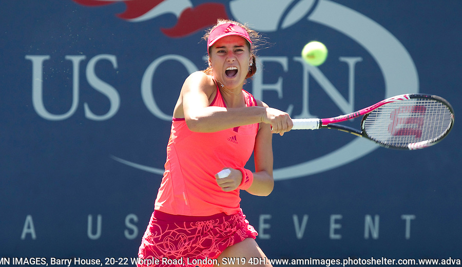 SORANA CIRSTEA (ROU) against  YANINA WICKMAYER  (BEL) (20) in the 1st round of the women's singles. Yanina Wickmayer beat Sorana Cirstea 6-1 7-5  ..Tennis - Grand Slam - US Open - Flushing Meadows - New York - Day 02 - Tue August 30th  2011..© AMN Images, Barry House, 20-22 Worple Road, London, SW19 4DH, UK..+44 208 947 0100.www.amnimages.photoshelter.com.www.advantagemedianetwork.com.