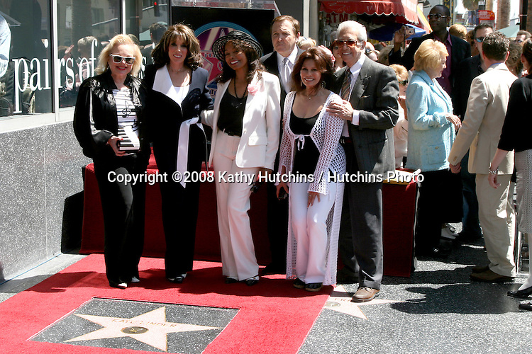 Carol Conners, Kate Linder, Florence LaRue, and Fred Travelena, Barba Luna, and Mr. Blackwell.Kate Linder receives a Star on the Hollywood Walk of Fame.Los Angeles, CA.April 10, 2008.©2008 Kathy Hutchins / Hutchins Photo....