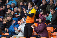 Wycombe fans at Bloomfield Road during the Sky Bet League 2 match between Blackpool and Wycombe Wanderers at Bloomfield Road, Blackpool, England on 20 August 2016. Photo by James Williamson / PRiME Media Images.