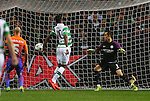 Moussa Dembele of Celtic scores the first goal during the Champions League Group C match at the Celtic Park Stadium, Glasgow. Picture date: September 28th, 2016. Pic Simon Bellis/Sportimage