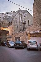 Palermo: an alley in the historic city center..Palermo: vicolo del centro storico