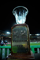 The Freedom Cup stands on display during the Rugby Championship match between the New Zealand All Blacks and South Africa Springboks at Westpac Stadium in Wellington, New Zealand on Saturday, 15 September 2018. Photo: Dave Lintott / lintottphoto.co.nz
