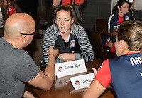 Houston, TX - Thursday Oct. 06, 2016: Kelsey Wys during media day prior to the National Women's Soccer League (NWSL) Championship match between the Washington Spirit and the Western New York Flash at BBVA Compass Stadium.