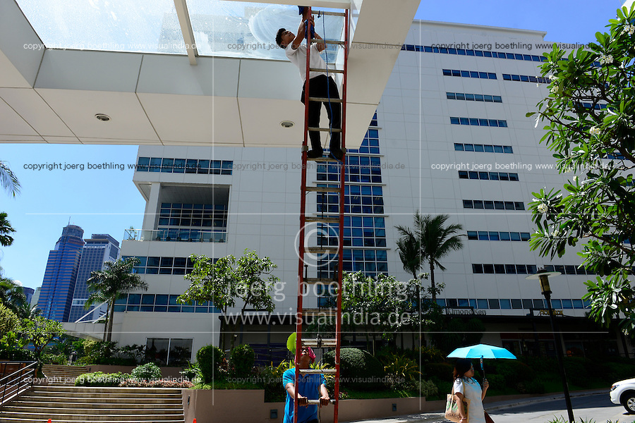 PHILIPPINES, Manila, Rockwell Business Center, Pasig City, office tower for callcenter   / PHILIPPINEN, Manila, Rockwell Business Center, Bueroturm fuer KPO Knowledge Process Outsorcing, callcenter