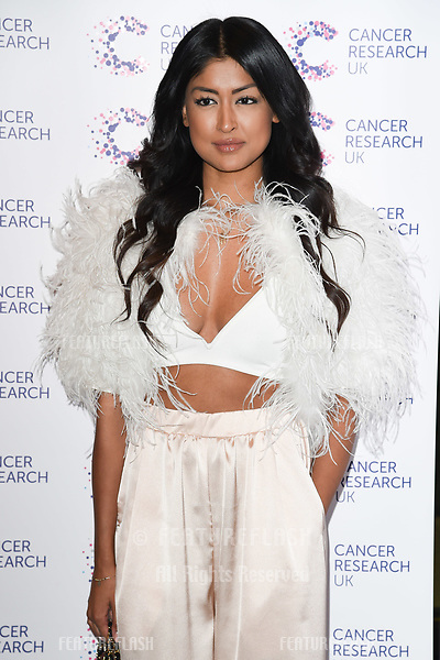 Farah Sattaur arriving at James Ingham&rsquo;s Jog On to Cancer, in aid of Cancer Research UK at The Roof Gardens in Kensington, London.  <br /> 12 April  2017<br /> Picture: Steve Vas/Featureflash/SilverHub 0208 004 5359 sales@silverhubmedia.com