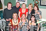 CHEERS: Celebrating the new year in Fitzgerald's Restaurant, Listowel, were front l-r: Sharon Griffin, Norma Sugrue and Mandy Quinn. Back l-r: Mark Murray, Tony Quinn, Amy McMahon, Karen O'Sullivan and Celia Mahony.   Copyright Kerry's Eye 2008