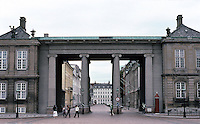 Copenhagen: Amalienborg Palace--looking south.