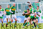 Denis Daly, Kerry, in action against Eoghan Gallagher, Donegal,  in the national Football League, Division 1, Round 4, at Austin Stack Park, Tralee on Sunday.
