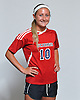 Bridget Patch of St. John the Baptist poses for a portrait during the Newsday 2015 varsity girls' soccer season preview photo shoot at company headquarters on Thursday, September 10, 2015.<br /> <br /> James Escher