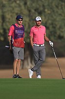 Maximilian Kieffer (GER) on the 3rd fairway during Round 2 of the Omega Dubai Desert Classic, Emirates Golf Club, Dubai,  United Arab Emirates. 25/01/2019<br /> Picture: Golffile | Thos Caffrey<br /> <br /> <br /> All photo usage must carry mandatory copyright credit (© Golffile | Thos Caffrey)