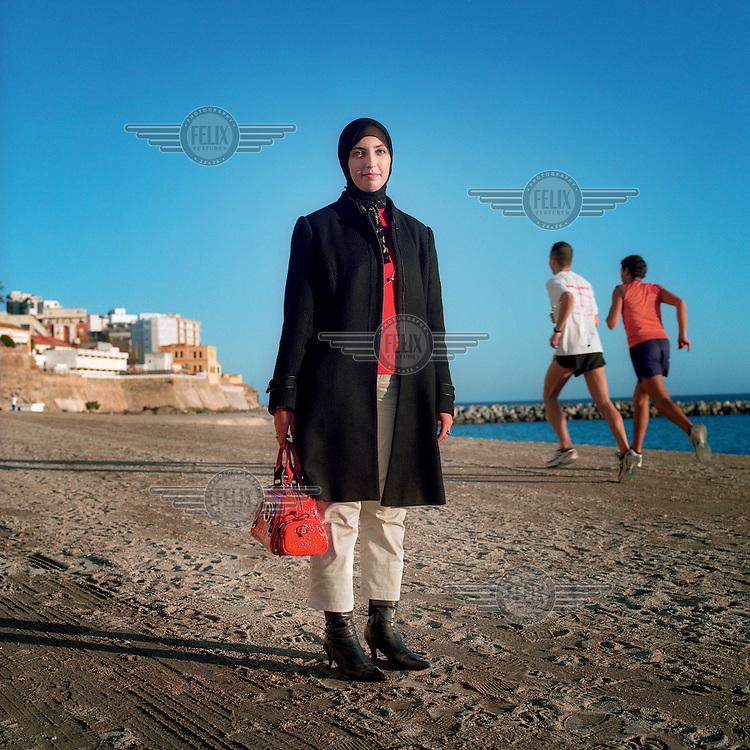 Fatima Hamed Hossein, a Muslim congresswoman for UDCE (Democratic Union of Ceuta) political party.