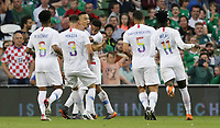Dublin, Ireland - Saturday June 02, 2018: Bobby Wood scores and celebrates during an international friendly match between the men's national teams of the United States (USA) and Republic of Ireland (IRE) at Aviva Stadium.