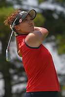 Annie Park (USA) watches her tee shot on 3 during round 3 of the 2018 KPMG Women's PGA Championship, Kemper Lakes Golf Club, at Kildeer, Illinois, USA. 6/30/2018.<br /> Picture: Golffile | Ken Murray<br /> <br /> All photo usage must carry mandatory copyright credit (&copy; Golffile | Ken Murray)