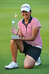 CHON BURI, THAILAND - FEBRUARY 20:  Yani Tseng of Taiwan poses with the trophy after winning the LPGA Thailand at Siam Country Club on February 20, 2011 in Chon Buri, Thailand. Photo by Victor Fraile / The Power of Sport Images