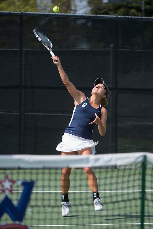 April 23, 2014; San Diego, CA, USA; San Diego Toreros player Anna Depenau during the WCC Tennis Championships at Barnes Tennis Center.