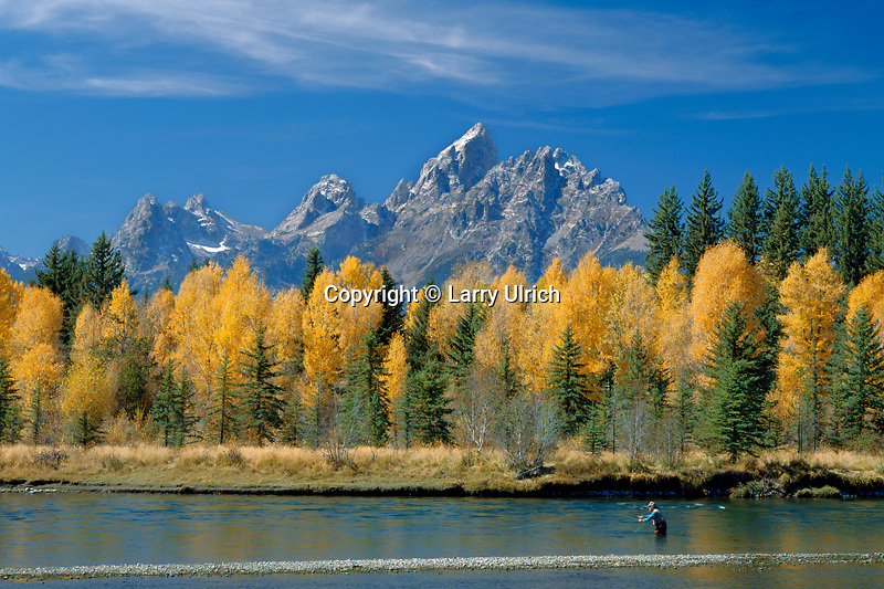 Fly fishing at Deadman's Bar<br />