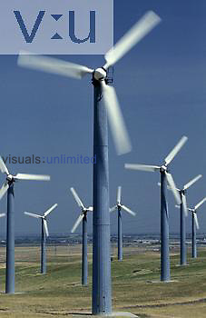 Wind turbines for generating electricity, Altamont Pass, Livermore, California.