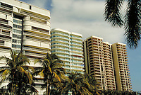 High rise hotels and condos. modern architecture, cityscape. Florida.