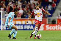 Harrison, NJ - Thursday Sept. 15, 2016: Oscar Ceren Delgado, Salvatore Zizzo during a CONCACAF Champions League match between the New York Red Bulls and Alianza FC at Red Bull Arena.