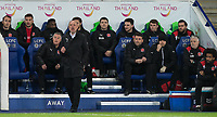 Fleetwood Town Manager Uwe Rosler and his staff during the FA Cup 3rd round replay  match between Leicester City and Fleetwood Town at the King Power Stadium, Leicester, England on 16 January 2018. Photo by Andy Rowland.