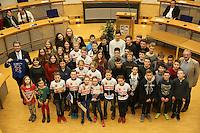 Ehrung der Rüsselsheimer Schülersportler im Rathaussaal mit Oberbürgermeister Patrick Burghardt und Sportamtsleiter Robert Neubauer