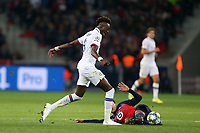 Benjamin Andre of Lille OSC and Tammy Abraham of Chelsea during Lille OSC vs Chelsea, UEFA Champions League Football at Stade Pierre-Mauroy on 2nd October 2019