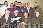 Donal Groves, chairman Ballyhar Dynamos pictured receiving sponsorship from Jim Culloty, Pat Sheahan's Bar, Firies, in the Ballyhar clubhouse on Monday night. Also pictured are Timmy Teahan, Brendan O'Sullivan, Tony O'Connor, Donie Teahan, Anthony McKenna, Noel Kenny, John Kerrisk, John Joe Dowd and Donal O'Donoghue.......****NO REPRODUCTION FEE*****NO REPRODUCTION FEE**..   Copyright Kerry's Eye 2008