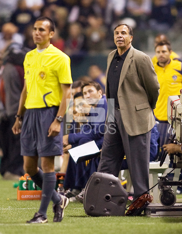 LA Galaxy head coach Bruce Arena. The LA Galaxy defeated New England Revolution 1-0 at Home Depot Center stadium in Carson, California Saturday evening July 4, 2009. .