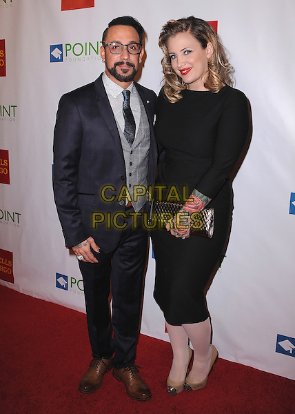 LOS ANGELES, CA - SEPTEMBER 13:  A.J. McLean and wife Rochelle Deanna Karidis at the &quot;Voices on Point&quot; Gala at the Hyatt Regency Century Plaza on September 13, 2014 in Los Angeles, California. <br /> CAP/SKPG<br /> &copy;SKPG/MediaPunch/Capital Pictures