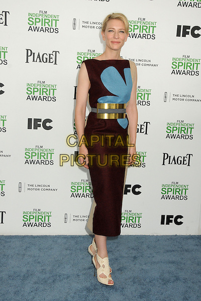 1 March 2014 - Santa Monica, California - Cate Blanchett. 2014 Film Independent Spirit Awards - Arrivals held at Santa Monica Beach. <br /> CAP/ADM/BP<br /> &copy;Byron Purvis/AdMedia/Capital Pictures