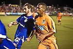 September 12, 2009. Cary, NC..The Carolina Railhawks took over the #2 spot in the league after a 2-1 victory over the Puerto Rico Islanders..#8 Matt Watson, right.