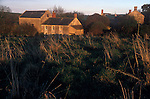 Lower Spargrove Farm and burnt out cottages. Parfitt Sisters Story, Spargrove Manor, Batcombe, Somerset. Taken for the Sunday Times Magazine 1988. Used December 1988.