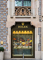 Official Rolex retail store, Barcelona, Spain,