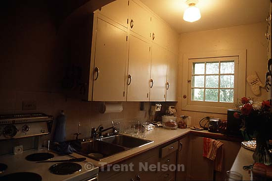 The kitchen at the Robinson house.<br />