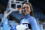 13 November 2015: UNC cheerleader. The University of North Carolina Tar Heels hosted the Gardner-Webb University Runnin' Bulldogs at Carmichael Arena in Chapel Hill, North Carolina in a 2015-16 NCAA Division I Women's Basketball game. Gardner-Webb won the game 66-65.