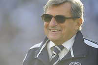 18 October 2008:  Penn State coach Joe Paterno smiles..The Penn State Nittany Lions defeated the Michigan Wolverines 46-17 October 18, 2008 at Beaver Stadium in State College, PA..