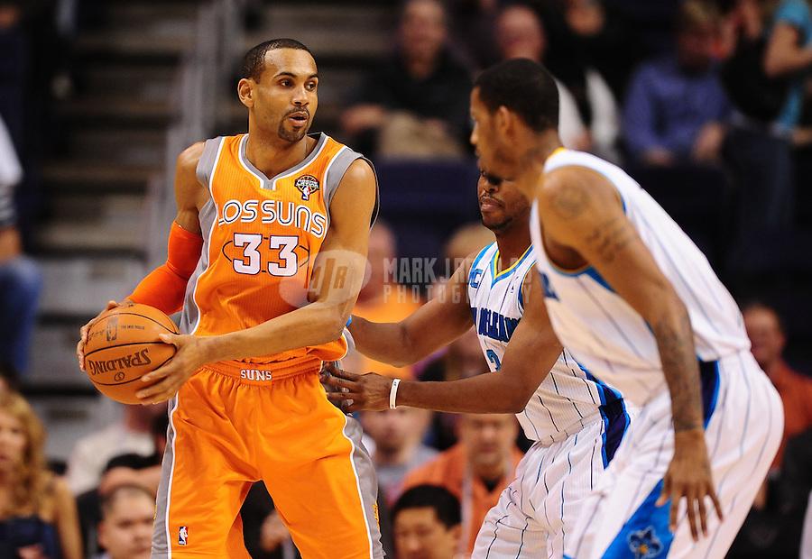 Mar. 25, 2011; Phoenix, AZ, USA; Phoenix Suns forward (33) Grant Hill against the New Orleans Hornets at the US Airways Center. The Hornets defeated the Suns 106-100. Mandatory Credit: Mark J. Rebilas-.