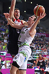 07.09.2014. Barcelona, Spain. 2014 FIBA Basketball World Cup, round of 8. Picture show Z. Dragic in action during game between Slovenia v Usa at Palau St. Jordi.
