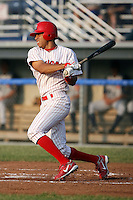 June 27th, 2007:  Tommy Pham of the Batavia Muckdogs, Short-Season Class-A affiliate of the St. Louis Cardinals at Dwyer Stadium in Batavia, NY.  Photo by:  Mike Janes/Four Seam Images