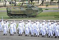 RIO DE JANEIRO, RJ, 08 DE MAIO DE 2013 - DIA DA VITORIA - Soldados durante cerimonia do Dia da Vitoria, no Aterro do Flamengo, na zona sul da cidade do Rio de Janeiro, nesta quarta-feira, 08. FOTO. INGRID CRISTINA / BRAZIL PHOTO PRESS.