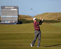 01  OCT 14 Francesco Molinari (ITA) during Wednesday's  practice at The Alfred Dunhill Links Championship at The Old Course in St. Andrews, Scotland. (photo credit : kenneth e. dennis/kendennisphoto.com)