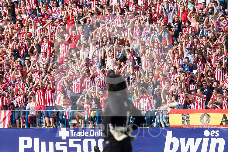 Atletico de Madrid supporters having fun during friendly match to farewell  to Vicente Calderon Stadium in Madrid, May 28, 2017. Spain.<br /> (ALTERPHOTOS/BorjaB.Hojas)