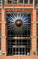 Entrance to the Phoenix City Hall. Phoenix Arizona USA.