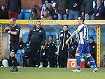 """Manuel Pascali turns around to see ref Stevie O""""reilly flash a red card ."""