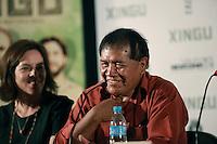 SAO PAULO, 27 DE MARÇO DE 2012. ENTREVISTA COLETIVA FILME XINGU.  O ator Tabata Kiukuro  participa da entrevista coletiva sobre o filme Xingu que conta a história dos irmãos Villas Boas e a criação do Parque Indígena do Xingu . FOTO: ADRIANA SPACA - BRAZIL PHOTO PRESS
